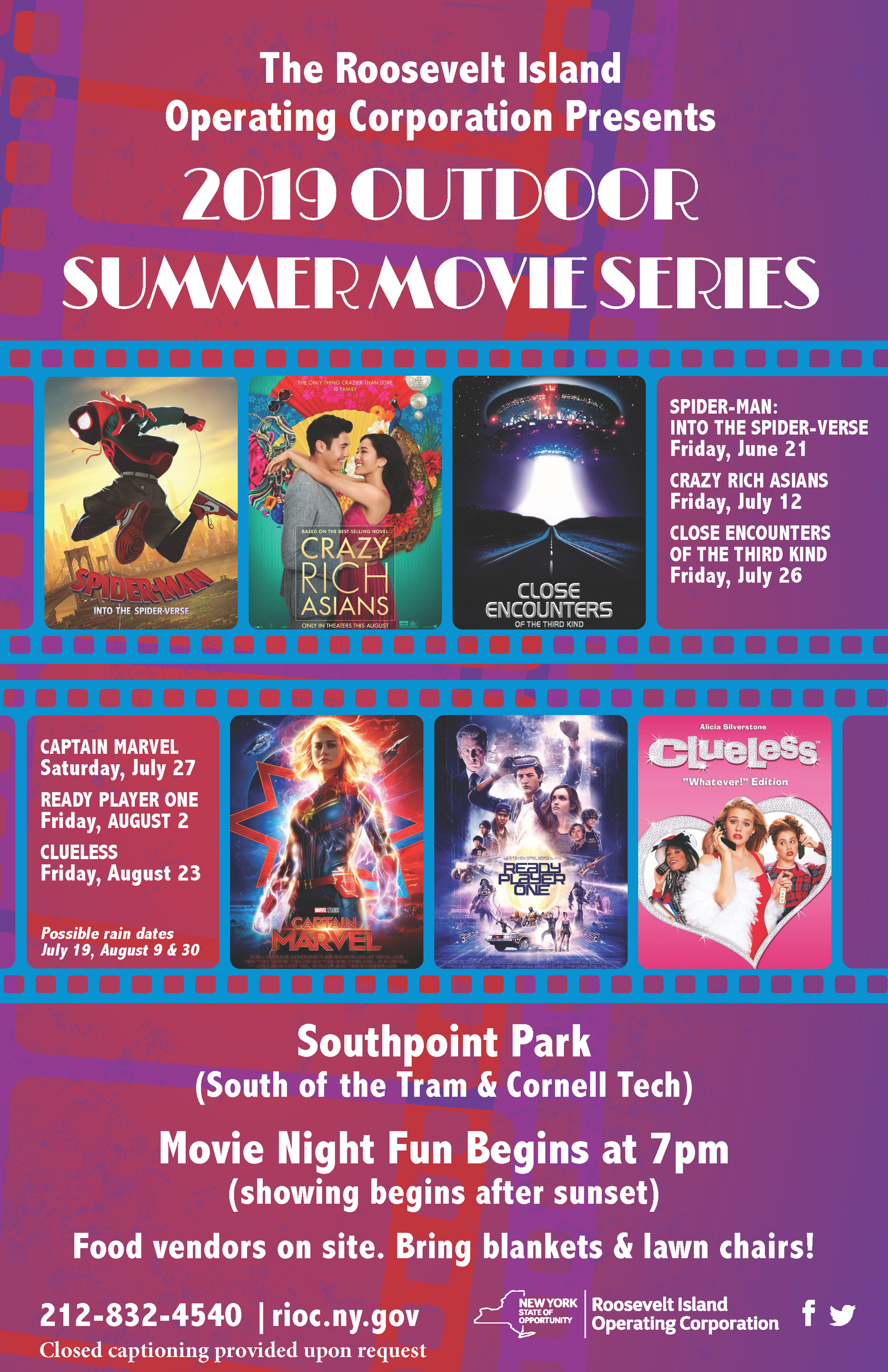 2019 Summer Movie Series Poster cc